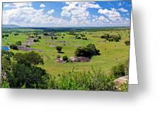 Savanna Landscape In Serengeti Greeting Card