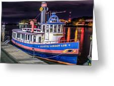 Savannah Belle Dot Ferry Greeting Card