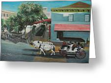 Savannah City Market Greeting Card