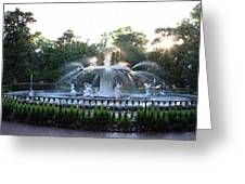 Savannah Georgia Forsyth Park Fountain Greeting Card