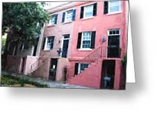 Savannah Georgia Shades Of Pink Greeting Card