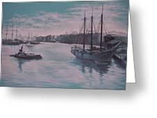 Savannah Harbor 1900 Greeting Card