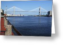 Savannah River Bridge Ga Greeting Card
