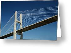Savannah River Bridge Georgia Usa Greeting Card