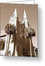 Savannah Sepia - Methodist Church Greeting Card