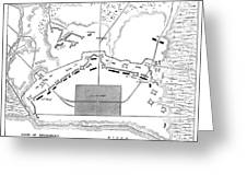 Savannah Siege Map, 1779 Greeting Card