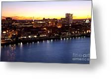 Savannah Skyline At Dusk Greeting Card