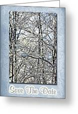 Save The Date - Winter Wedding Greeting Card