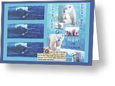 Save The Polar Bear Now Or Never Greeting Card