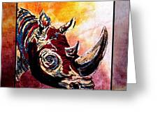 Save The Rhino Greeting Card by Sylvie Heasman