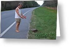 Saving The Turtle Greeting Card