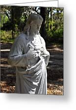 Savior Statue Greeting Card by Al Powell Photography USA