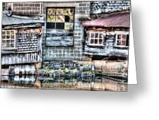 Saw Mill Reflections Greeting Card