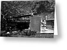 Sawmill In Black And  White Greeting Card by John Holloway