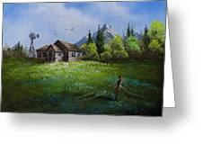 Sawtooth Mountain Homestead Greeting Card