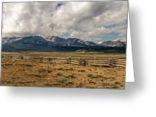 Sawtooth Range Greeting Card by Robert Bales