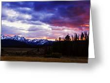 Sawtooth Sunset Panorama Greeting Card