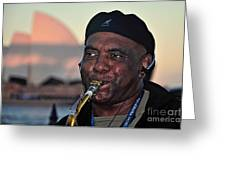 Sax In The City Greeting Card