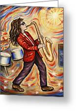 Sax Man Greeting Card