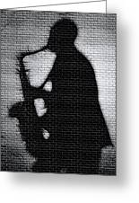 Sax On The Bricks Greeting Card