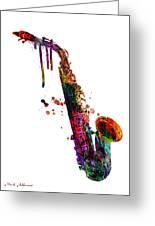 Saxophone 2 Greeting Card