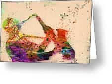 Saxophone  Greeting Card by Mark Ashkenazi