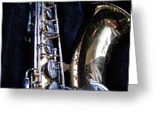 Saxophone View 4 Greeting Card