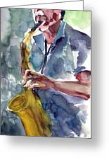 Saxophonist Greeting Card