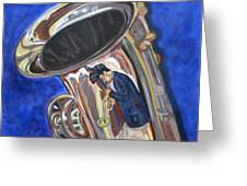 Saxy Reflection Sold Greeting Card