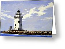 Saybrook Breakwater Lighthouse Old Saybrook Connecticut Greeting Card