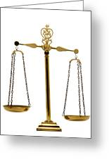 Scale Of Justice Greeting Card by Olivier Le Queinec