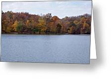 Scales Lake In Autumn Greeting Card by Sandy Keeton