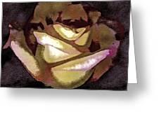 Scanned Rose Water Color Digital Photogram Greeting Card