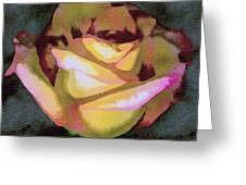 Scanned Rose Water Color Greeting Card