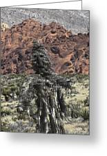 Scarecrow Cactus Greeting Card
