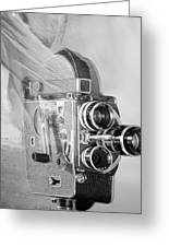 Scarf Camera In Black And White Greeting Card