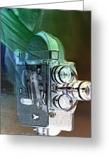Scarf Camera In Negative Greeting Card