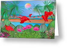 Scarlet Party - Limited Edition 1 Of 20 Greeting Card