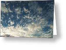 Scattered Clouds Greeting Card by Margaret McDermott