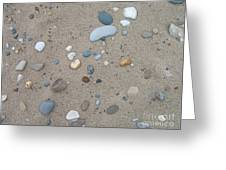 Scattered Pebbles Greeting Card by Margaret McDermott