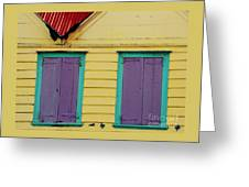 Colorful Doors In Antigua Greeting Card
