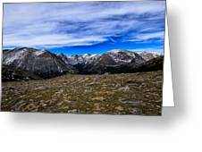 Scene From The Rocky Mountains National Park  Greeting Card