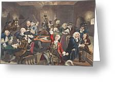 Scene In A Gaming House, Plate Vi Greeting Card