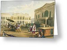 Scene In Bombay, From Volume I Greeting Card