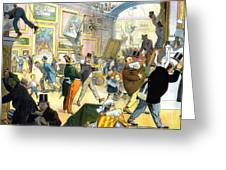 Scene In The Louvre 1911 Greeting Card