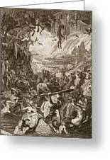 Scene Of Hell, 1731 Greeting Card