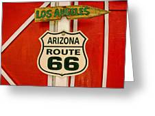 Scenes On Route 66 Greeting Card