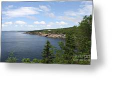 Scenic Acadia Park View Greeting Card