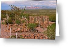 Scenic Boothill Cemetery In Tombstone Arizona Greeting Card