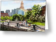 Scenic Boston Greeting Card